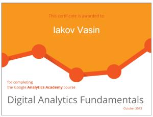 Google Digital Analytics Certified